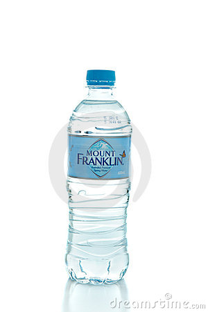 Mount Franklin premium spring water Editorial Photography