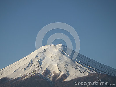 Mt Fuji on a clear blue sky