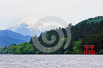 Mount Fuji and Hakone Shrine
