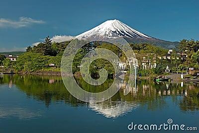 Mount Fuji from Kawaguchiko lake in Japan