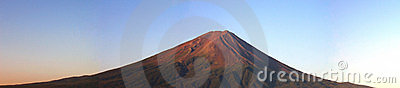Mount Fuji panorama at sunrise