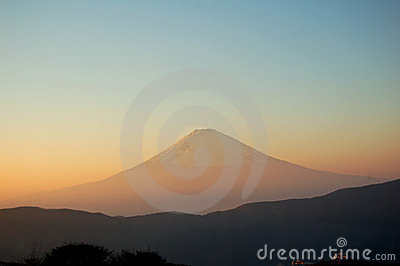 Mount Fuji at Sunset