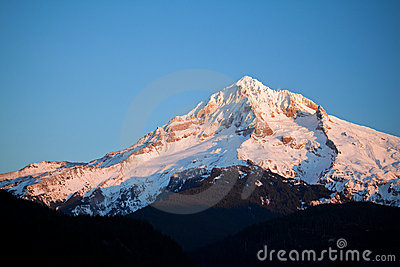 Mount hood in winter