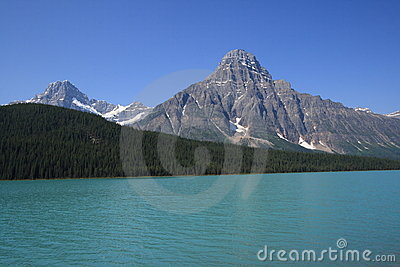 Mount Howse and Waterfowl Lake