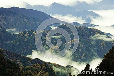 Mount Huangshan scene