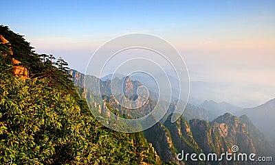 mount huangshan sunrise in July 2007