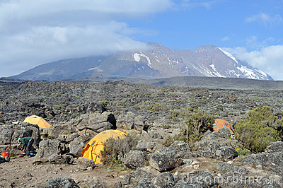 Mount Kilimanjaro base camp Editorial Stock Photo