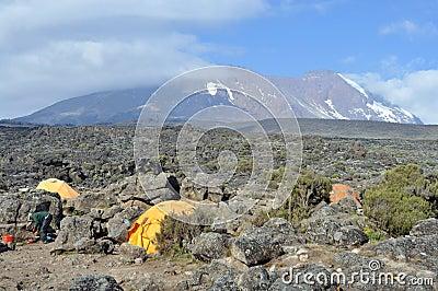 Mount Kilimanjaro base camp Editorial Stock Photo