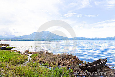 Mount and Lake Batur, Bali, Indonesia