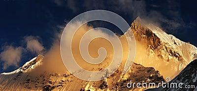 Mount Machhapuchhre in Nepal
