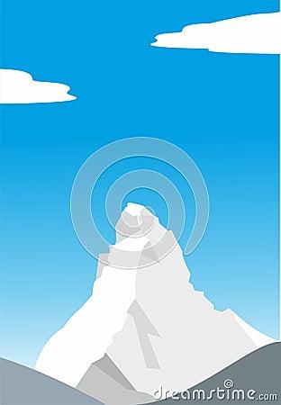 Mount Matterhorn. Alps