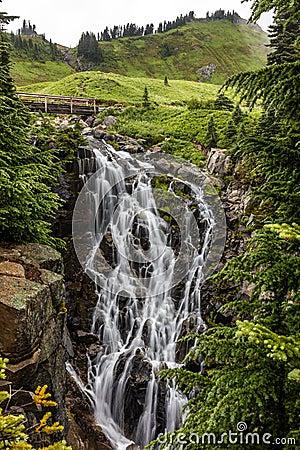 Free Mount Rainier S Myrtle Falls Stock Photography - 78885852
