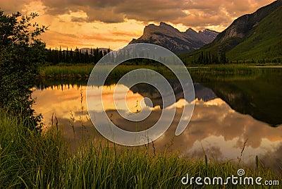 Mount Rundle Sunset