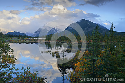Mount Rundle and Vermilion Lake Reflections