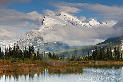 Mount Rundle and Vermillion Lake, Canada