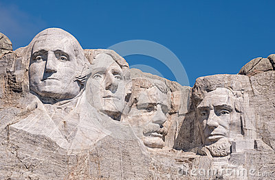 Mount Rushmore closeup