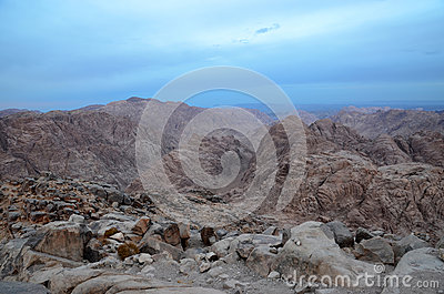 Mount Sinai in the morning haze