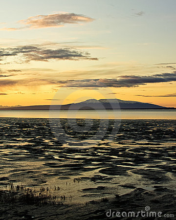 Mount Susitna at Sunset
