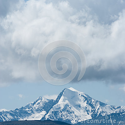 Mount top in a  clouds