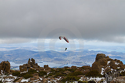 Mount Wellington paraglider