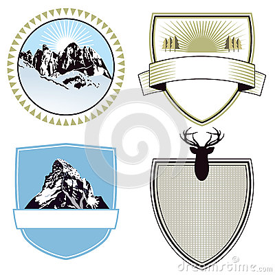 Mountain adventure and expedition badges