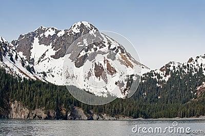 Mountain on Alaskan coast