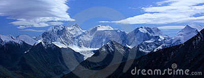 Mountain Altai. A kind on the White whale from pas