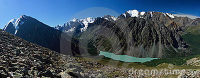Mountain Altai. Lake of Shavlinskoe.