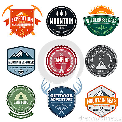 Free Mountain Badges Stock Photos - 25792333