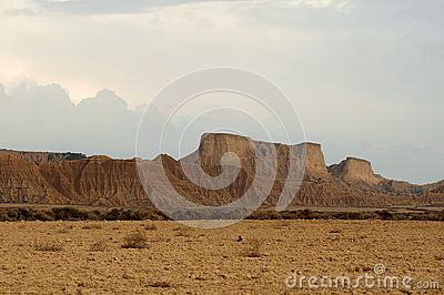 Mountain in Bardenas Reales desert