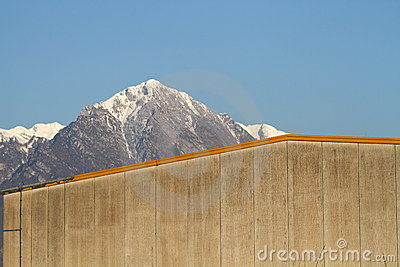 The mountain behind the wall
