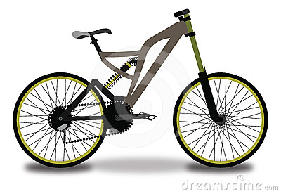 Mountain Bicycle, Color Illustration