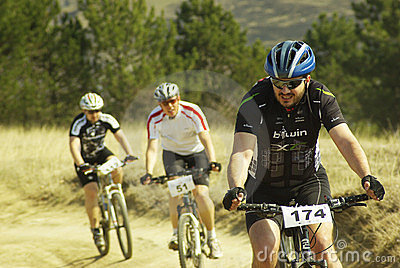 Mountain bike competition Editorial Stock Image