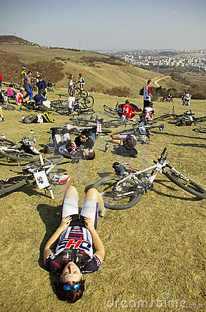 Mountain bike competition Editorial Stock Photo