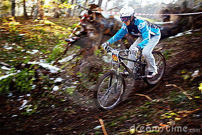 Mountain bike competitions at Halloween Editorial Image