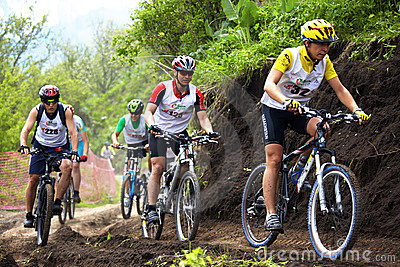 Mountain bike cross-country race Editorial Photo