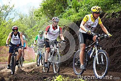 Mountain bike cross-country race Editorial Photo