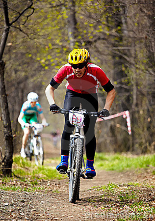 Mountain bike cross-country relay race Editorial Photo