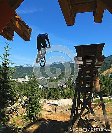 Mountain Bike Drop Stunt