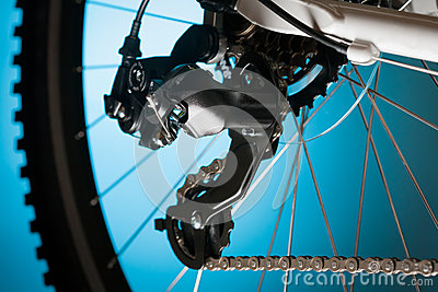 Mountain bike, front sprocket and pedal