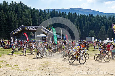Mountain Bike Marathon Editorial Photo