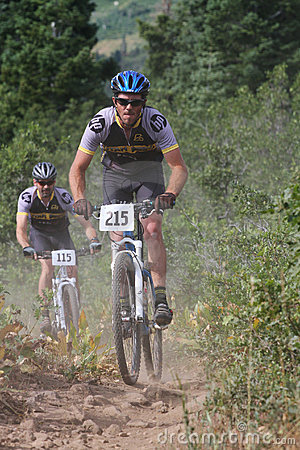 Mountain bike race Editorial Stock Image