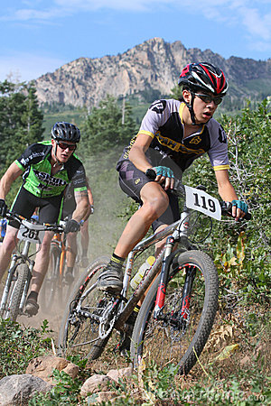 Mountain bike racer Editorial Stock Image