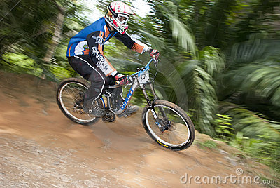 Mountain-bike Racer Editorial Stock Photo
