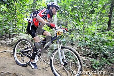 Mountain Bike Racer Editorial Stock Image
