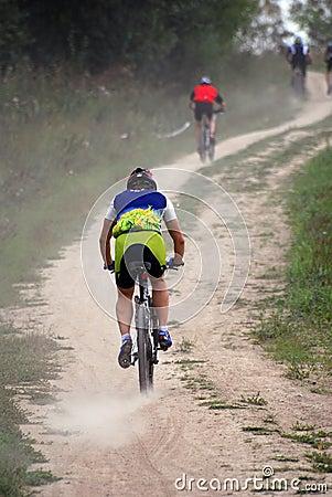 Free Mountain Bike Racing Stock Photo - 3198700
