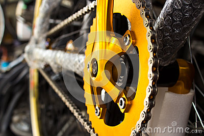 Mountain bike s gear and chain