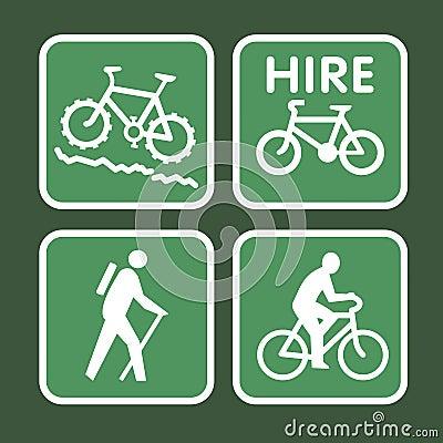 Mountain bike sign