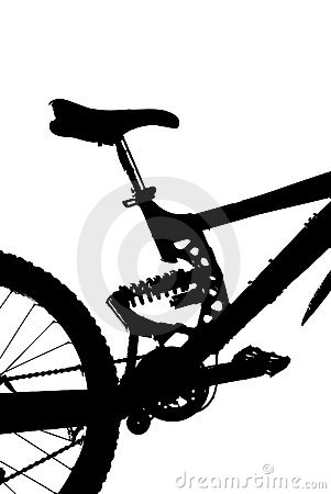 Mountain-bike silhouette