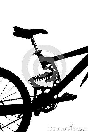Mountain-bike silhouette